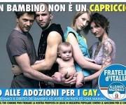 fratelli d'italia No adozioni gay
