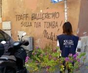 AssoTutela - Scritte oltraggiose contro Toaff e Pacifici sui muri di Roma